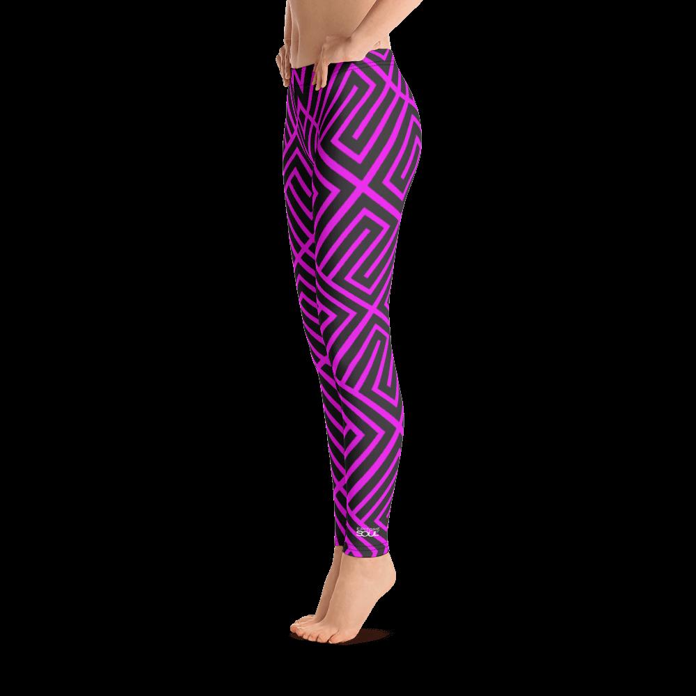 Magenta Abstract Yoga Leggings