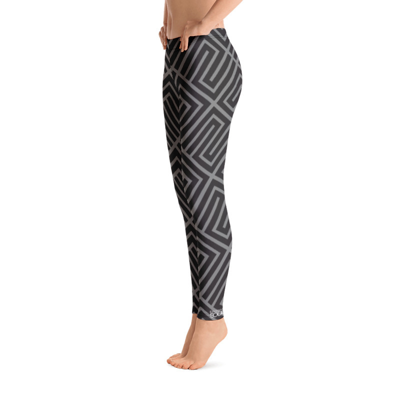 "Gray Abstract ""All Over"" Leggings"